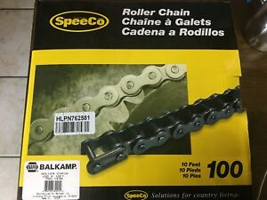 Napa Balkamp Speeco 100 X 10ft Roller Chain With Connecting Link
