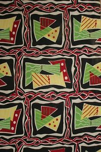 Vintage Mid Century Modern Fabric Material 1950 S French Upholstery Abstract