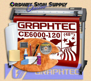 Graphtec 48 Ce6000 120 Vinyl Plotter Cutter W Stand Accessories 2 Yr Wnty Obo