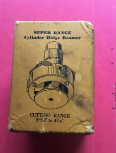 Rm076 Vintage Super Range Cylinder Ridge Reamer With Original Box