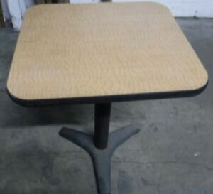 Restaurant Equipment 29 Standard Height Table Top With Base 24 X 22 Tan