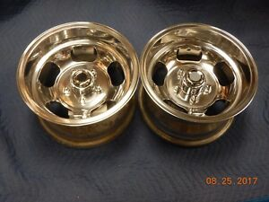 Just Polished 14x8 Slot Mag Wheels Ford Dodge Mags Mopar Chevelle Camaro 442 Gto
