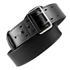 Boston Leather 6501 3 34b Black Bw Brass Lined 2 25 Sam Browne Duty Belt 34