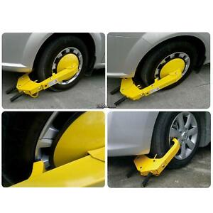 Auto Car Vehicle Wheel Clamp Disc Lock Anti theft Security Safety Heavy Duty Us