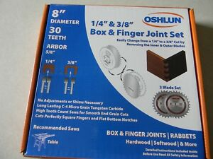 Oshlun 8 Box And Finger Joint Set Sbj 0830 9 6