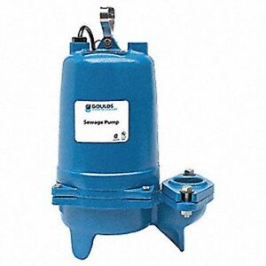 Goulds Pumps Ws0712bhf Pump Submersible Sewage 3 4 Hp 230 V 120 1 Phase