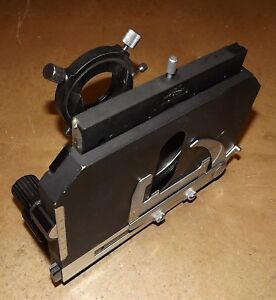 Nikon Microphot Microscope Stage Condenser Sub stage Assembly
