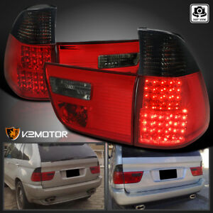 2000 2006 Bmw X5 E53 Red Smoke Led Tail Lights Rear Brake Lamps Left Right