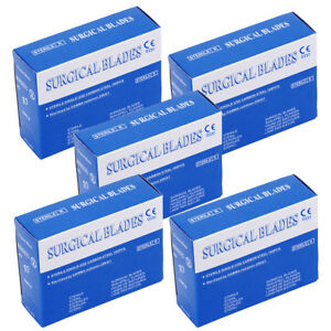 5x Dental Sterile Scalpel Surgical Blades 10 Carbon Steel 100pcs box