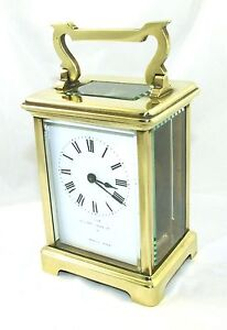 Antique Brass Bevelled Glass Carriage Clock Jays 142 144 Oxford St W 46