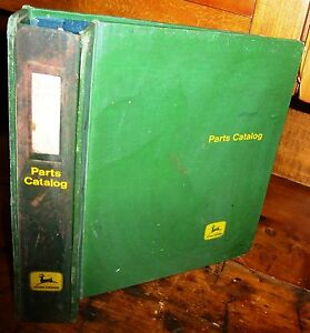 John Deere Used Original 4 Post Parts Manual Binder