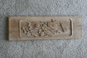 Antique Chinese Ming Dynasty Hand Carved Architectural Furniture Remnant Panel