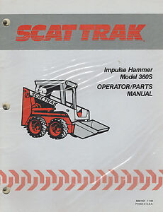 Scat Trak Skid Steer Impulse Hammer Operator parts Manual