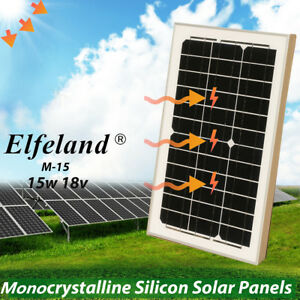 Elfeland 15 Watts 15w Solar Panel 18v Poly Off Grid Battery Charger For Rv Boat