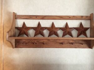 Lot Of Five 8 Inch Rusty Metal Stars Brand New Great Primitive Look