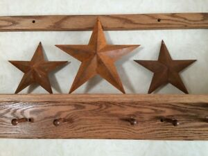 Lot Of 3 Rusty Stars Two 8 Inch And One 11 Inch Brand New