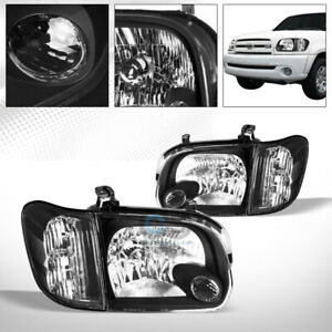 Blk Housing Head Lights corner Signal Nb For 2005 2006 Tundra Double Cab sequoia