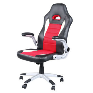 Executive Racing Style High Back Reclining Gaming Chair Office Computer Seat Red