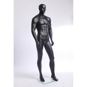 Male Mannequin Display Charcoal Gray Muscular Looking Handmade Manikin xm11 8