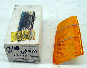 Nos 1980 Chevrolet Chevy Caprice Genuine Gm Front Side Marker Lens Right Hand
