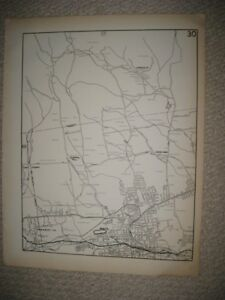 Antique Bristol Pequabuck Whigville Edgewood Hartford County Connecticut Map Nr