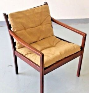 Vintage Danish Modern Arm Chair Ole Wanscher Rosewood Lounge Chair