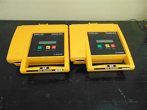 Lot Of 2 Medtronic Lifepak 500t Aed Training System With One Remote sr153