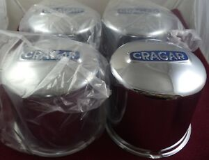 Cragar Wheels 8 Lug Steel Chrome Custom Wheel Center Caps Set Of 4