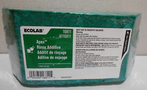 1 New Ecolab Apex Rinse Additive 6116811 2 5 Lb