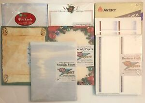 Miscellaneous Lot Of Inkjet Printer Specialty Paper Borders Business Cards