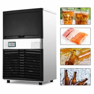 Heavy Duty 100lbs Day Commercial Automatic Stainless Steel Ice Maker Machine