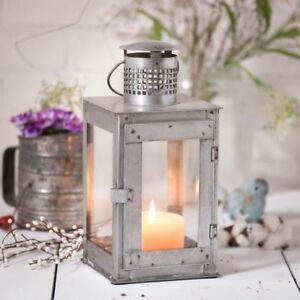 Country New Large Springhouse Tin Square Candle Lantern Nice