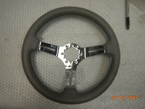 New Blem Grant Grey Leather Steering Wheel Chevelle Camaro Skylark Gto El Camino