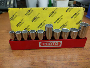 Stanley Proto Industrial J52206 10pc Metric Socket Set 12 Pt 3 8 Drive 10 19 Mm