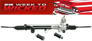 New Mustang Ii 2 Ifs Power Rack And Pinion With Offset Bushings 15 5 Mount