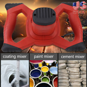 1500w Handheld 6 speed Electric Mixer For Stirring Mortar Paint Cement Grout Us
