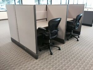 Used Office Cubicles Herman Miller Ao3 4x4 Cubicles