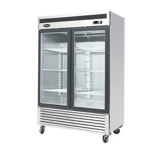 Atosa Mcf8703gr 47 1 Cu Ft Double Section Freezer Merchandiser