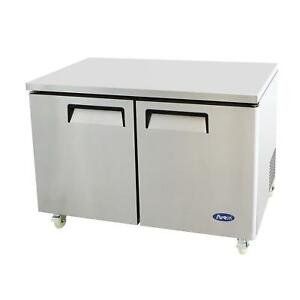 Atosa Mgf8406 48 Double Door Undercounter Reach in Freezer