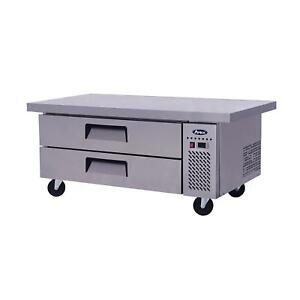 Atosa Mgf8452gr 60 Single Section Extended Top Stainless Steel Chef Base