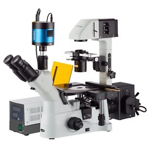 40x 600x Inverted Phase contrast Fluorescence Microscope With 6mp Extreme Low