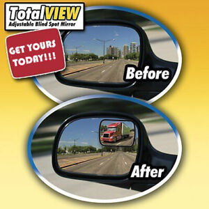 Total View Sureview 360 Adjustable Blind Spot Mirror Set Of 2 Adhesive Lg 3 5