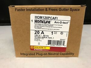 new Square D Homeline 20 Amp Arc fault Breakers Lot Of 3 Hom120pcafi