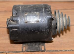 Antique Watch Makers Lathe Motor Emerson Electric 1 3 Hp 1725 Rpm With Pulle