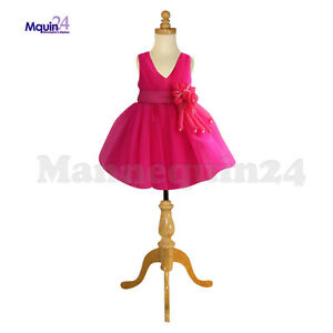 Kids Dress Form Mannequin 3 4 Yrs W tripod Wooden Base Child Clothing Display