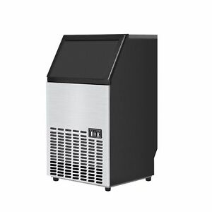 Portable Stainless Steel Commercial Ice Maker Machine Free Standing Or Built In
