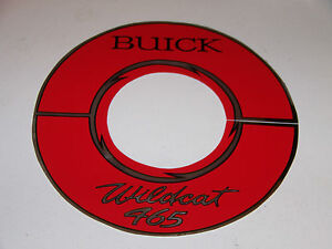64 65 66 Buick Wildcat 465 Air Cleaner Decal 10 Gs 1966 1965 1964 Sticker