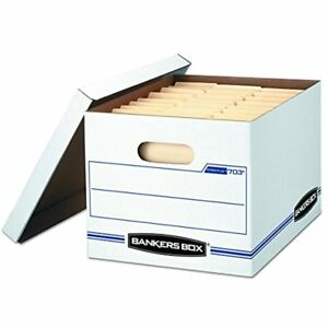 Bankers Box Stor file Storage With Lift off Lid Letter legal 12 10 15 Inches