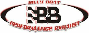 Billy Boat Fpor 6110 Single Inlet Twin Outlet Muffler W 3 Cut edge Oval Tips