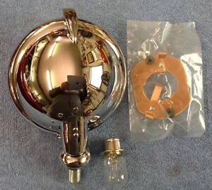 Lucas Reproduction 576 Slr Driving Lamp W clear Lens Bulb Contact Plate 12 volt